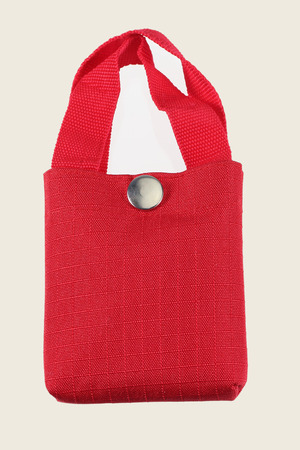 red fabric bag isolated on white background