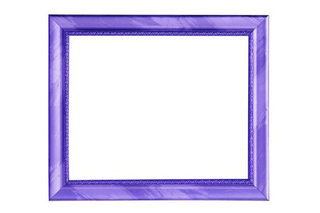 old photograph: Beautiful blue picture frame isolated on white background. Stock Photo