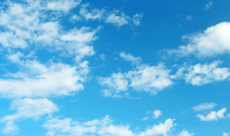 White clouds in the blue sky beautiful for background or design.- Image