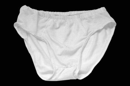 Man underwear white isolated on black background. Stockfoto