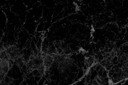 The Detailed structure of black marble in natural pattern for background and design.