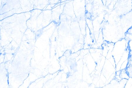 Blue marble pattern stone wall design texture background.