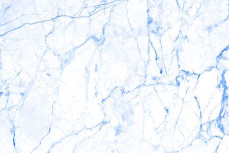 Fondo de textura de diseño de pared de piedra de patrón de mármol azul.
