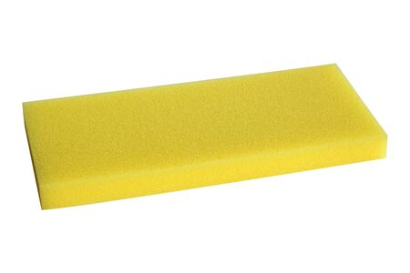 yellow sponges auxiliary equipment for construction isolate on white background.