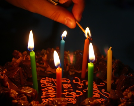 Six Candles on The Chocolate Cake photo