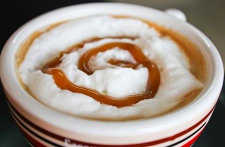 musetti: Hot Caramel Late Coffee Stock Photo