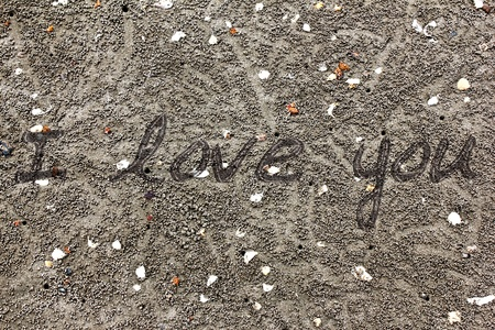 The letters on the sand photo