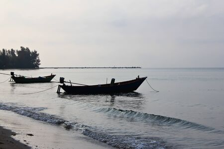 Two fishing boat in the evening photo
