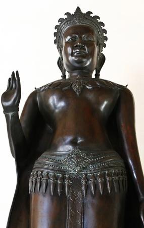 Black of Buddha image with white background photo
