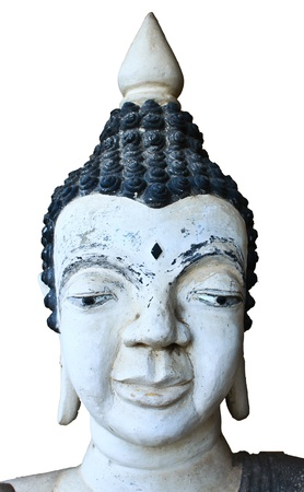 White buddha statue of head photo