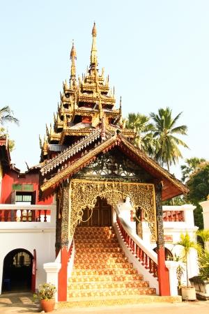 chum: Chapel of Wat  Sri Chum at Lampang Stock Photo