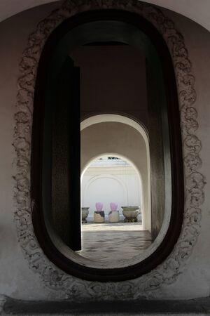 Door open in the temple Banco de Imagens
