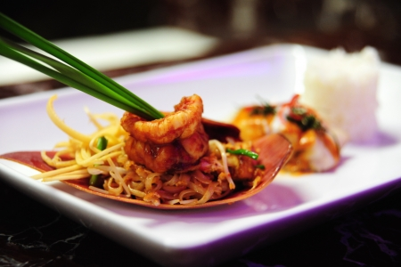 Phat-Thai  Thai style fried noodle with shrimp