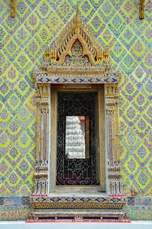 architrave: Thai traditional molding of architrave in Thai ancient temple