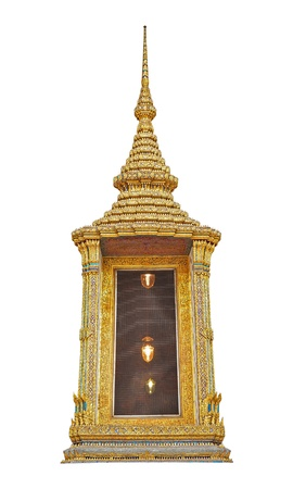 A beautiful fantastic decoration of Thai ancient architrave isolated on white background