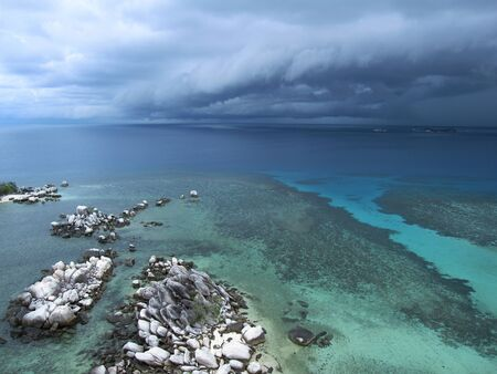Storm is coming over the crystal sea  Stock Photo