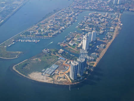 Landscape view of Bali city which is taken from the plane