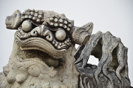 Close up of Chinese Kylin  1 of 4 holy animals by believing of Chinese people
