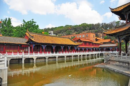 dazzlingly: Landscape of Chinese antique traditional building  Stock Photo