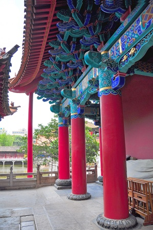 Details of Chinese building architecture in old temple  photo