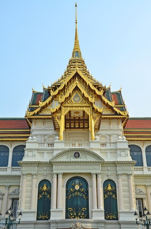 Luxurious traditional Thai style decoration of building