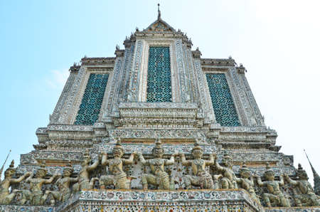 Thai ancient famous pagoda in Thai ancient temple