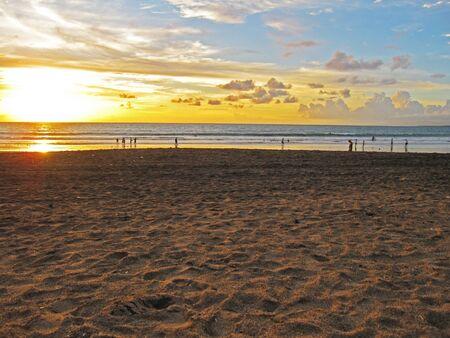 Landscape of sunrise moment at the beautiful beach  Stock Photo