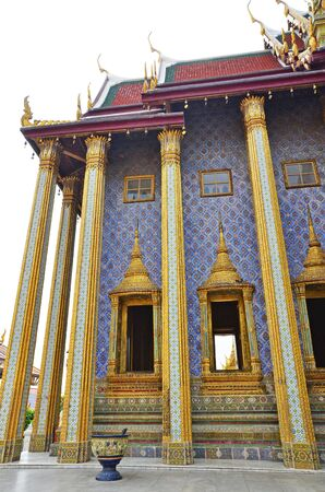 Thai fantastic temple with the perfection of decoration