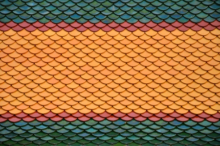 Close up of Thai traditional roof of Thai temple  Stock Photo