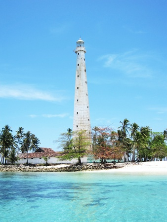 A beautiful view of lighthouse on the beautiful paradise sea