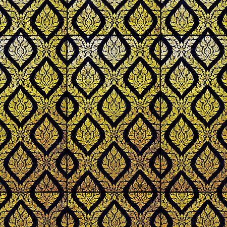 Magnificent golden Thai line as background