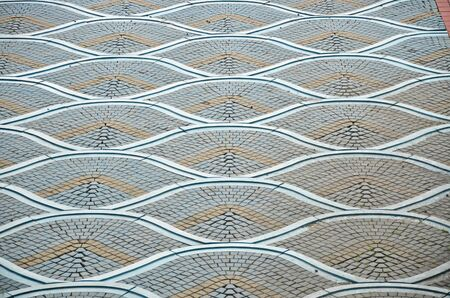 Photo of beautiful tile floor pattern