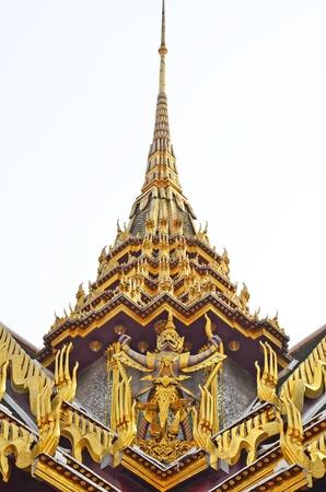 Traditional Thai Garuda decorated on Thai famous temple in Bangkok  Stock Photo