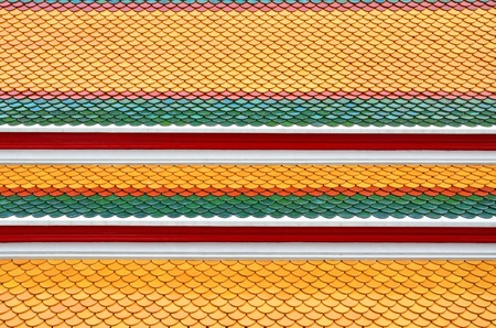 Photo of Thai traditional pattern roof in old temple