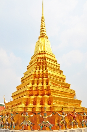 philanthropist: A famous golden pagoda in famous tourist attraction temple of Thailand