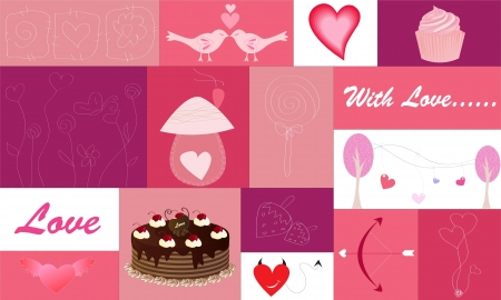 Set of Hearts and Love Icons Vector