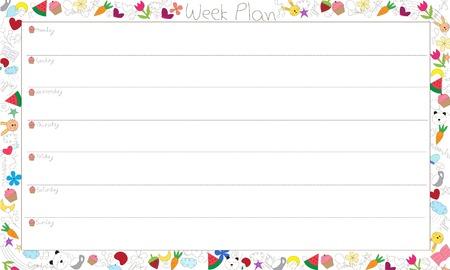 weekly: Vector Weekly Plan