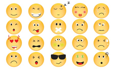 Vector Set of Emotion Icons Vector
