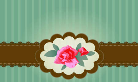 Vector Vintage Roses with Lace Vector