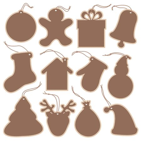 Christmas Tags Vector Set Vector