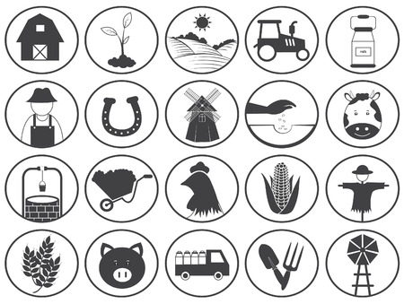 pitchfork: Farming Icons Vector Collection