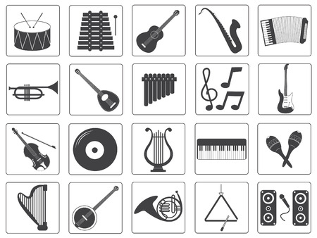Vector Music Instrument Icons Set Vector