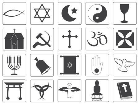 protestantism: Vector Religious Icons Collection