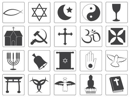 testaments: Vector Religious Icons Collection