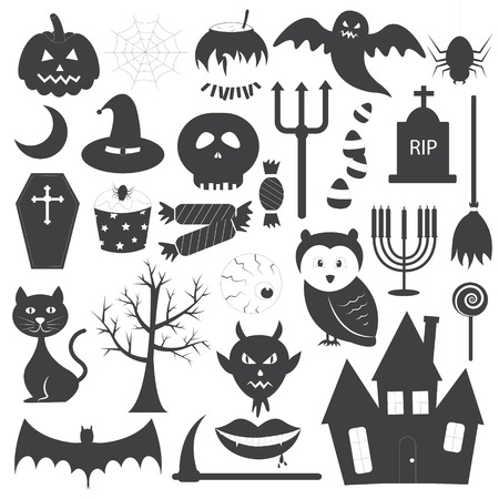 Halloween Icons Vector Set Vector