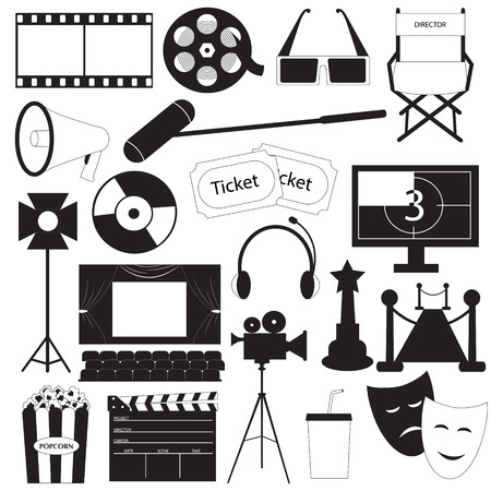 Movie icons vector collection Vector