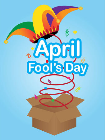 jester hat: April fool  day sign with jester hat