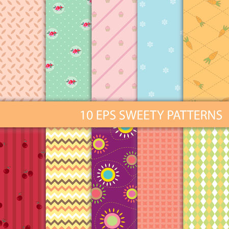 sweety: Set of Sweety Graphic Pattern Illustration