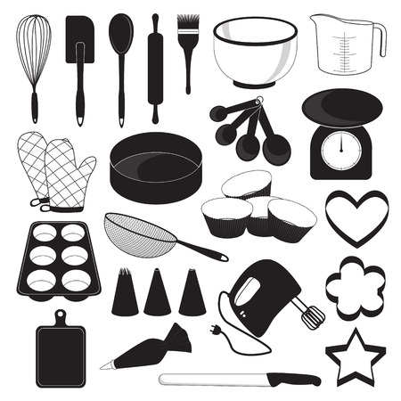 Backen Tool Icons Set Illustration