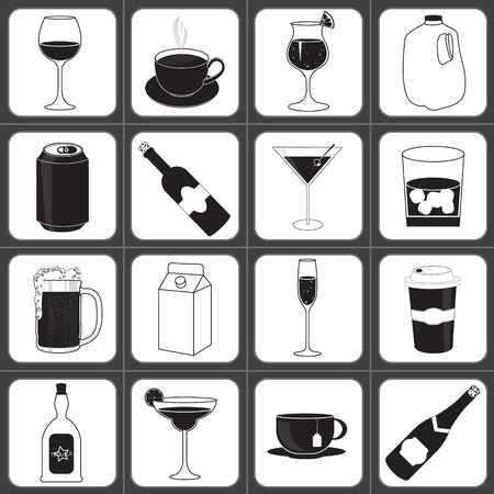 margerita: Drinks and Beverages Icon Collection